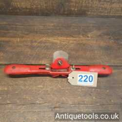 Lot 220 Vintage Record tools No: A65 chamfer spokeshave