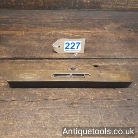 Lot 227 Unusual Vintage Rabone and son's rosewood and brass spirit level