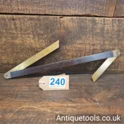 Vintage Boatbuilders Double Ended Rosewood and Brass Bevel Stamped No: 1321