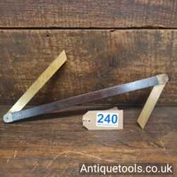 Lot 240 Vintage Boatbuilders double ended rosewood and brass bevel
