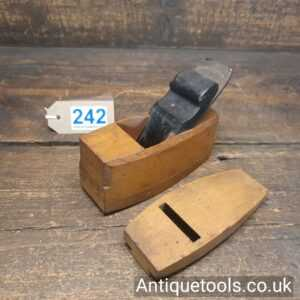 Antique Boxwood and Ebony Pattern Makers Compassed Plane