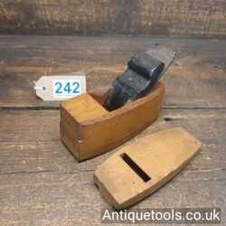 Nice Antique Boxwood And Ebony Pattern Makers Compassed Plane
