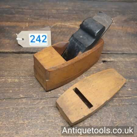 Lot 242 Nice antique Boxwood and ebony pattern makers compassed plane