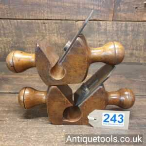 """vintage Sorby Rounding Planes 1 ¼"""" + 1"""" Lovely Condition"""