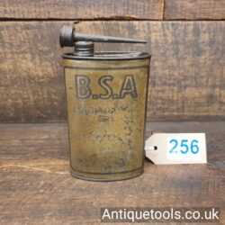 BSA Oil Can for Lubricating Bicycles Tin Oiler