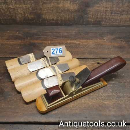 Vintage Pattern Makers Brass Bodied Plane with 5 No: Round Bases