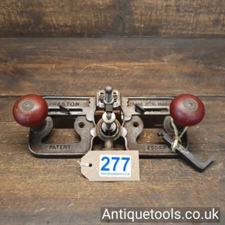 Antique Edward Preston No: 2500P Hand Router Plane Complete with 2 Irons