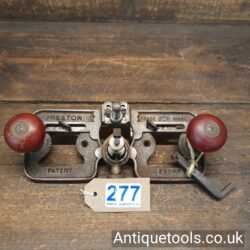 Lot No 277 in our September 2021 auction is aDesirable Antique Edward Preston No: 2500P Hand router plane complete with 2 irons