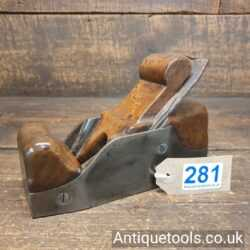Antique Foundry made Cast Steel Infill Smoothing Plane