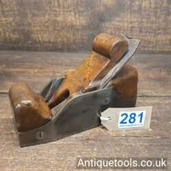 Lot 281Antique foundry made Cast steel infill smoothing plane