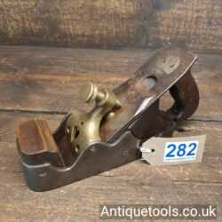 Antique Scottish Pattern Infill Smoothing Plane with a Decorative Brass Lever Cap