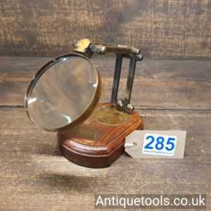 Antique Watkins & Hill, London c1818-56 Opticians High Quality Desk Mounted Magnifying Glass