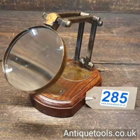 Lot 285Antique Watkins & Hill, London c1818-56 opticians high quality desk mounted magnifying glass