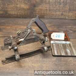 Antique Stanley No: 41 Millers Patent Type 9 Plow Plane with 8 No: Cutters