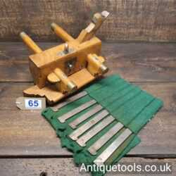 Lot 65 Antique Griffiths of Norwich carpenter's beechwood and brass plough plane