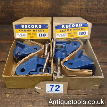 Lot 72 vintage 2 pairs of Record No: 130 sash clamp heads