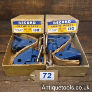 Vintage 2 Pairs Of Record No: 130 Sash Clamp Heads