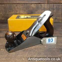 Lot 93 Vintage Stanley England No: 4 ½ wide bodied smoothing plane