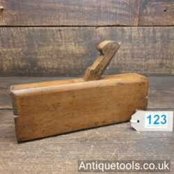 """Lot 123 Antique Griffiths of Norwich 2 ¾"""" wide highly complex beechwood moulding plane"""