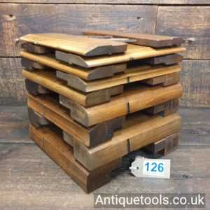 Half Set Of 18 Griffiths Of Norwich Hollow And Round Beechwood Moulding Planes