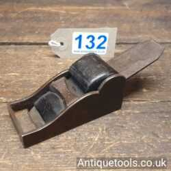 Lot 132Antique cast steel chariot plane with rosewood wedge