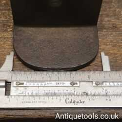 Lot 15: Early Antique Dovetailed Mitre Plane with Hardwood Infill
