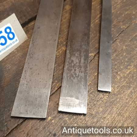 Lot 158 – 3 Vintage Pattern makers paring chisels by I. Sorby