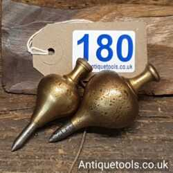 2 No: Antique Edward Preston Plunb Bobs Marked With The EP Stamp
