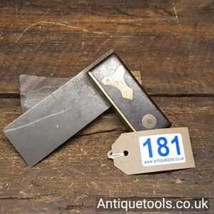 """Unusual But Nice Vintage Rosewood And Brass ¾"""" Try Square"""