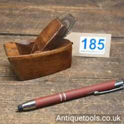 Lot 185 Miniature raked front Luthiers beechwood and brass fronted plane