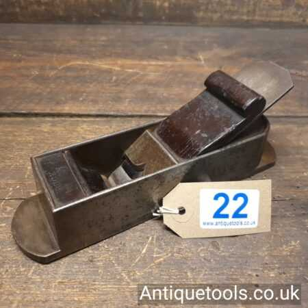 """Lot 22: Antique 19th Century 8"""" Buck of London Mitre Plane with Rosewood Infill"""