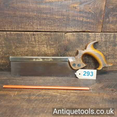 Antique Groves & Sons Brass Back Dovetail Saw