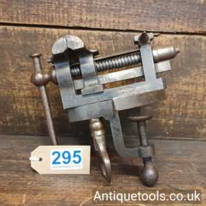 Lot 295 – Rare Melhuish Fetter Lane cast steel rotating jewellers vice and anvil