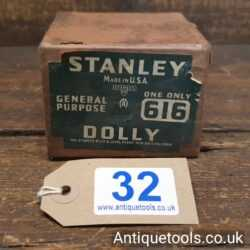 Vintage Boxed Stanley Sweetheart USA No: 616 Metal Worker's Dolly