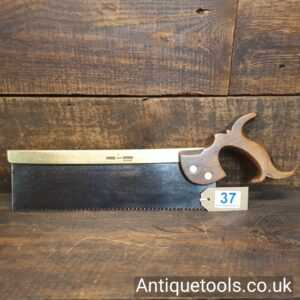 """Antique I Hill Late Howel c.1840 12"""" Brass Back Tenon Saw"""