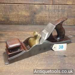 """Lot 38 - Antique Norris 14 ½"""" dovetailed panel plane with rosewood infill"""