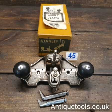 Lot 45 - Vintage Stanley England No: 71 hand router plane complete