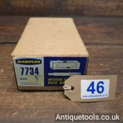 """Lot 46 - Vintage 1/2"""" W. Marples & Sons No: 7734 wood screw box and tap"""