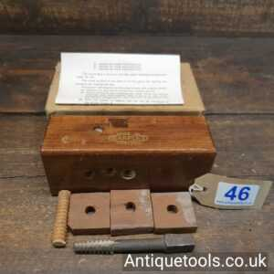 """Vintage 1/2"""" W. Marples & Sons No: 7734 Wood Screw Box And Tap"""