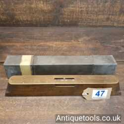 Lot 47 - Quality antique steel soled Oak and brass spirit level