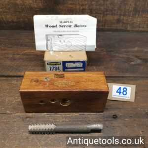 Vintage W. Marples & Sons No: 7734 Wood Screw Box And Tap