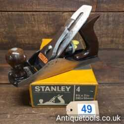 Lot 49 - Vintage Boxed Stanley England No: 4 smoothing plane