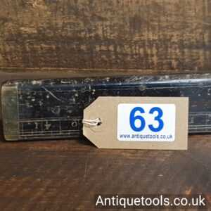 """Rare Early Antique Ebony & Brass 42"""" Paper Trade Ruler"""
