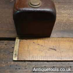 """Lot 7: Antique 7 ¾"""" x 2 ½"""" Scottish Pattern Cast Steel Parallel Sided Smoothing Plane"""